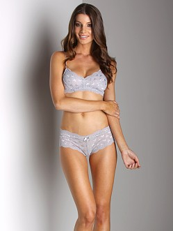 Honeydew Sweet Heart Lace Boyshort Grey