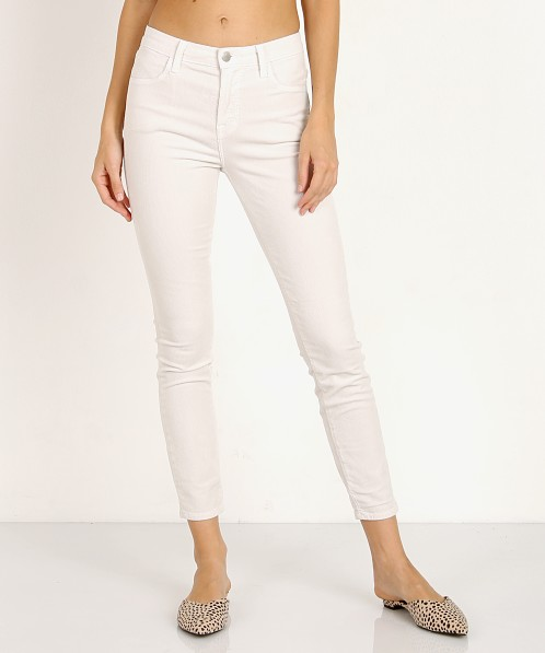 J Brand Alana High Rise Crop Skinny Moonbeam Cord
