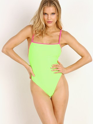 SKIN by SAME Swim One Piece Neon Green/Neon Pink