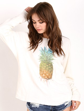 WILDFOX Rainbow Pineapple Sweater Pearl