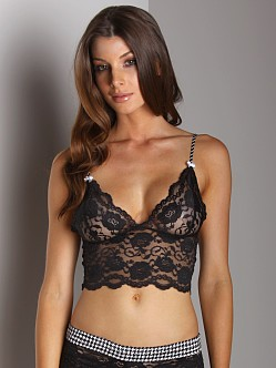 Foxers Lace Top Bra Black