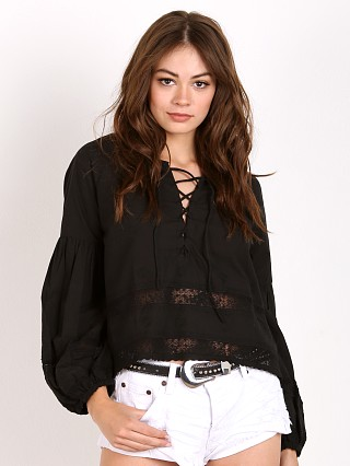 Complete the look: Auguste Luxe Angalaise Boho Top Black