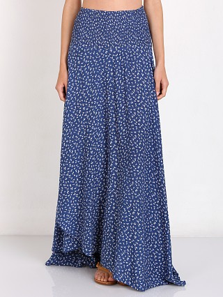 Auguste Full Wrap Maxi Skirt Navy Floral
