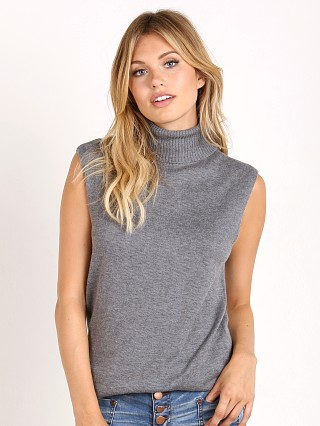 Bella Luxx Cashmere Blend Funnel Neck Heather Grey