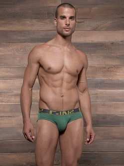 C-IN2 Pop Colors Lo No Show Brief Emerald Green