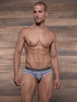 C-IN2 Pop Stripes Lo No Show Brief Grape Grey