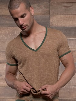 C-IN2 Hand Me Down Ringer V-Neck Shirt Russet