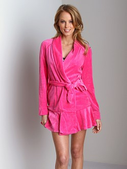 Juicy Couture Velour Robe Dragon Fruit
