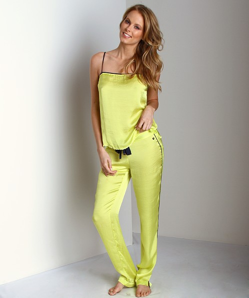 Juicy Couture Tumbled Satin Pant Lemon Drop
