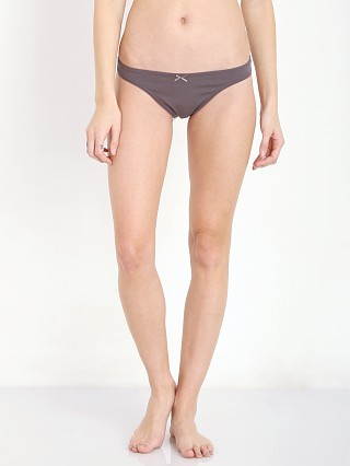 Complete the look: Eberjey Pima Goddess Picot Edge Thong Charcoal