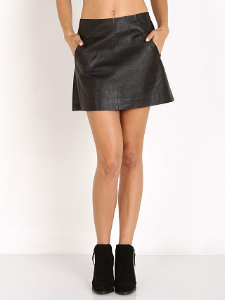 BB Dakota Ian Faux Leather Skirt Black
