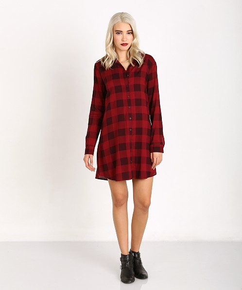 BB Dakota Plaid Dress Red