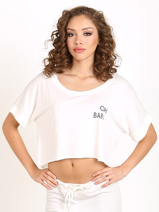 All Things Fabulous Oh Baby Vintage Crop White