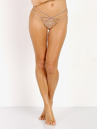 Complete the look: SKIVVIES by For Love & Lemons Golden Garden Thong Bee