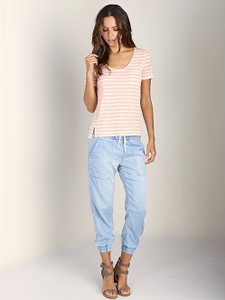 Splendid Glen Valley Stripe Tee Apricot