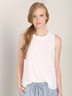Splendid Boatneck Top White