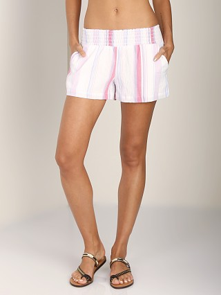 Complete the look: Splendid Canyondale Stripe Smocked Short Chambrey Apricot