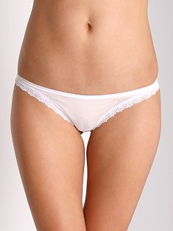 Calvin Klein Low Rise Lace Thong White