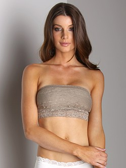 Free People Lace Bandeau Taupe