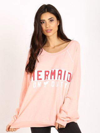 WILDFOX Mermaid on Duty Kim's Sweater Grapefruit