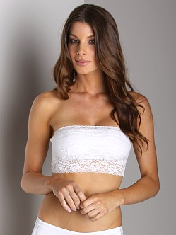 Free People Lace Bandeau White