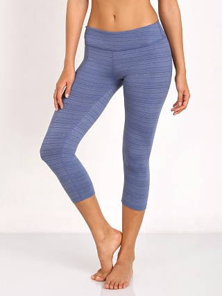 Beyond Yoga Stripe Capri Legging Faded Denim
