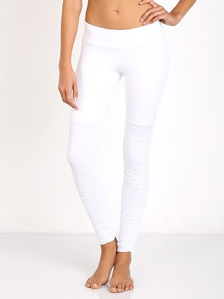 Beyond Yoga Sleek Stripe Leg Warmer Legging White