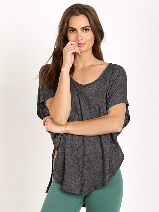 Beyond Yoga Fine Slub Scalloped Tee Black