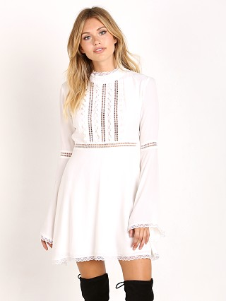For Love & Lemons Willow Bell Sleeve Dress White