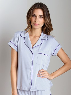 Eberjey Gisele Short PJ Top Slate/Purple