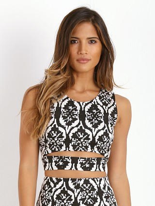 Lovers + Friends Ashley Crop Top Black/White