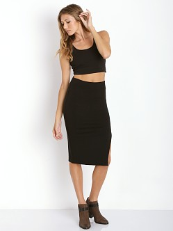 Lovers + Friends Amy Crop Top Black