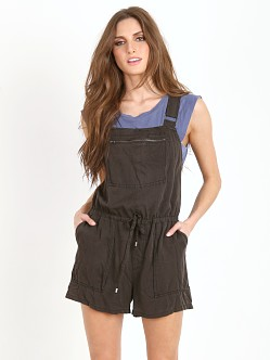 Free People Basically Backless Shortall Overalls Black