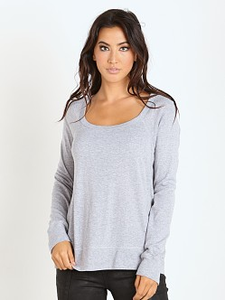 Splendid Long Sleeve Sweater Heather Grey
