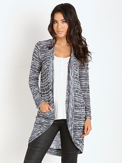 Splendid Upstate Loose Knit Cardigan Black