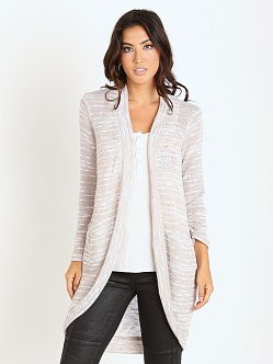 Splendid Upstate Loose Knit Cardigan Almond