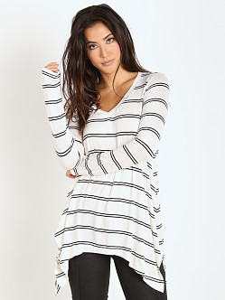 Splendid Canvas Double Stripe Tunic White/Black
