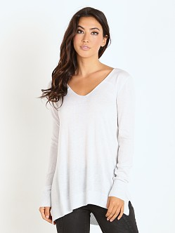 Splendid Cashmere Blend Sweater Heather White