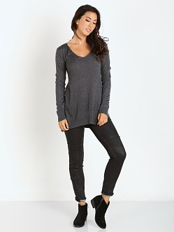 Splendid Cashmere Blend Sweater Heather Charcoal