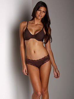Only Hearts Second Skin Racerback Bra Chocolate