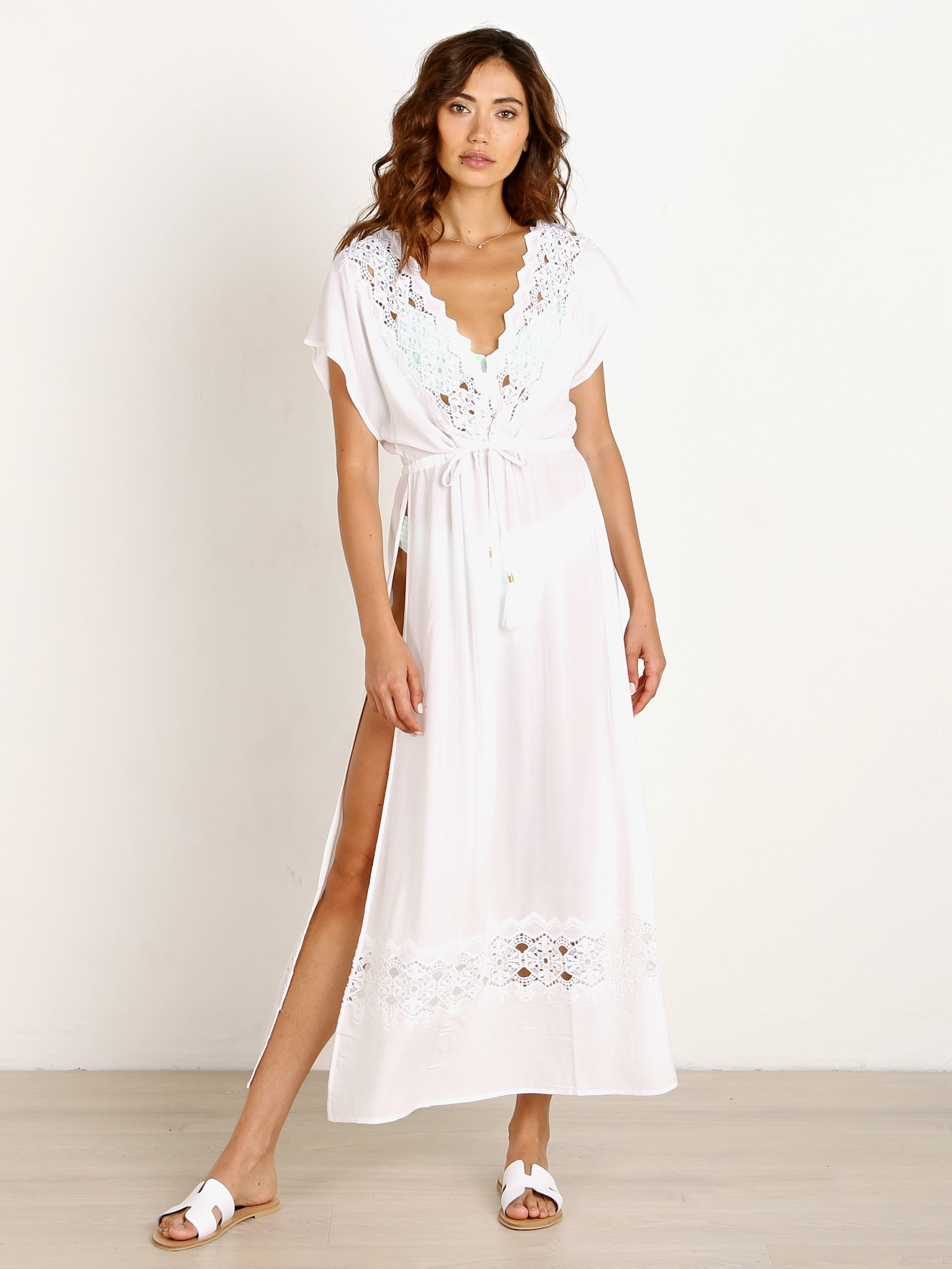 ee101ff2bc L Space Sunset Cover Up Dress White SUNCV18 - Free Shipping at Largo Drive