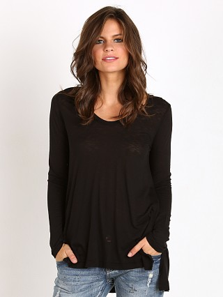 Splendid Slub Tee Tunic Black