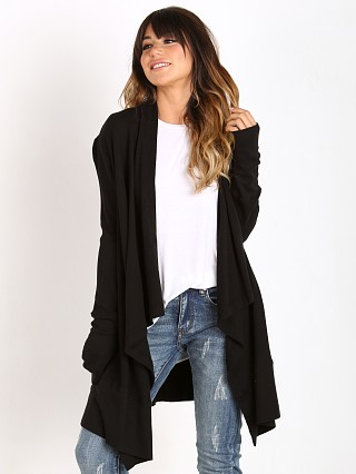 Splendid Thermal Cardigan Black