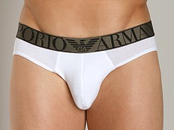 Emporio Armani Stretch Cotton Hip Brief White