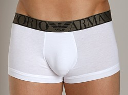 Emporio Armani Stretch Cotton Trunk White