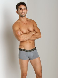Emporio Armani Stretch Cotton Trunk Smoke Grey