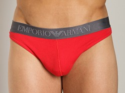 Emporio Armani Contrast Thong Red