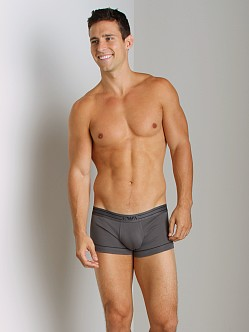 Emporio Armani Contrast Piping Trunk Asphalt Grey