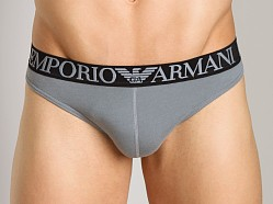 Emporio Armani Cotton Thong Smoke Grey