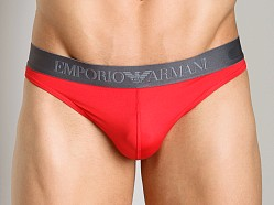 Emporio Armani Sleek & Trim Thong Red
